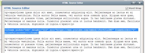 html source editor